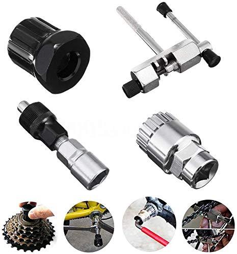 Kits de Herramientas de Reparación de Bicicletas,Removedor de Soporte, Extractor de Cadena Que Incluye Extractor de Manivela Herramienta de Extracción de Pedal de Bicicleta