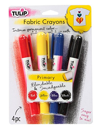 Tulip 10046122 Fabric Crayons 4Pk, Primary, Assorted