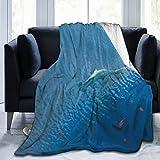 Bebé Tiburones Martillo en un Acuario Manta de Lana Manta Plegable Manta Lavable sofá Manta difusa Manta de Felpa Reversible Manta de Playa para Oficina en casa