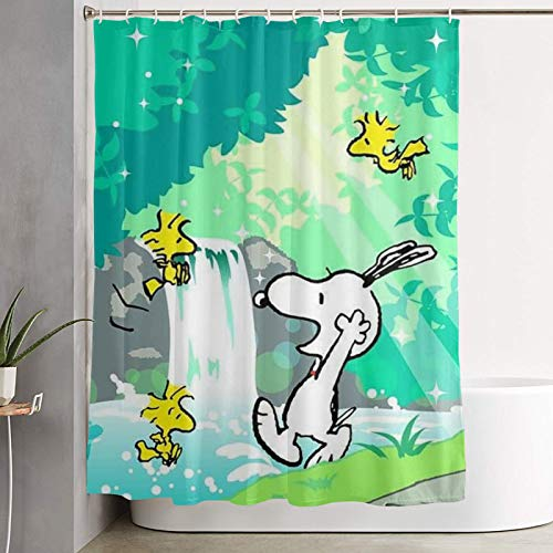 WSXEDC Shower Curtain Take A Shower Snoopy Waterproof Curtain 60 X 72 Inches