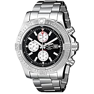 Breitling Watches Breitling Men's BTA1337111-BC29SS Super Avenger II Analog Display Swiss Automatic Silver Watch
