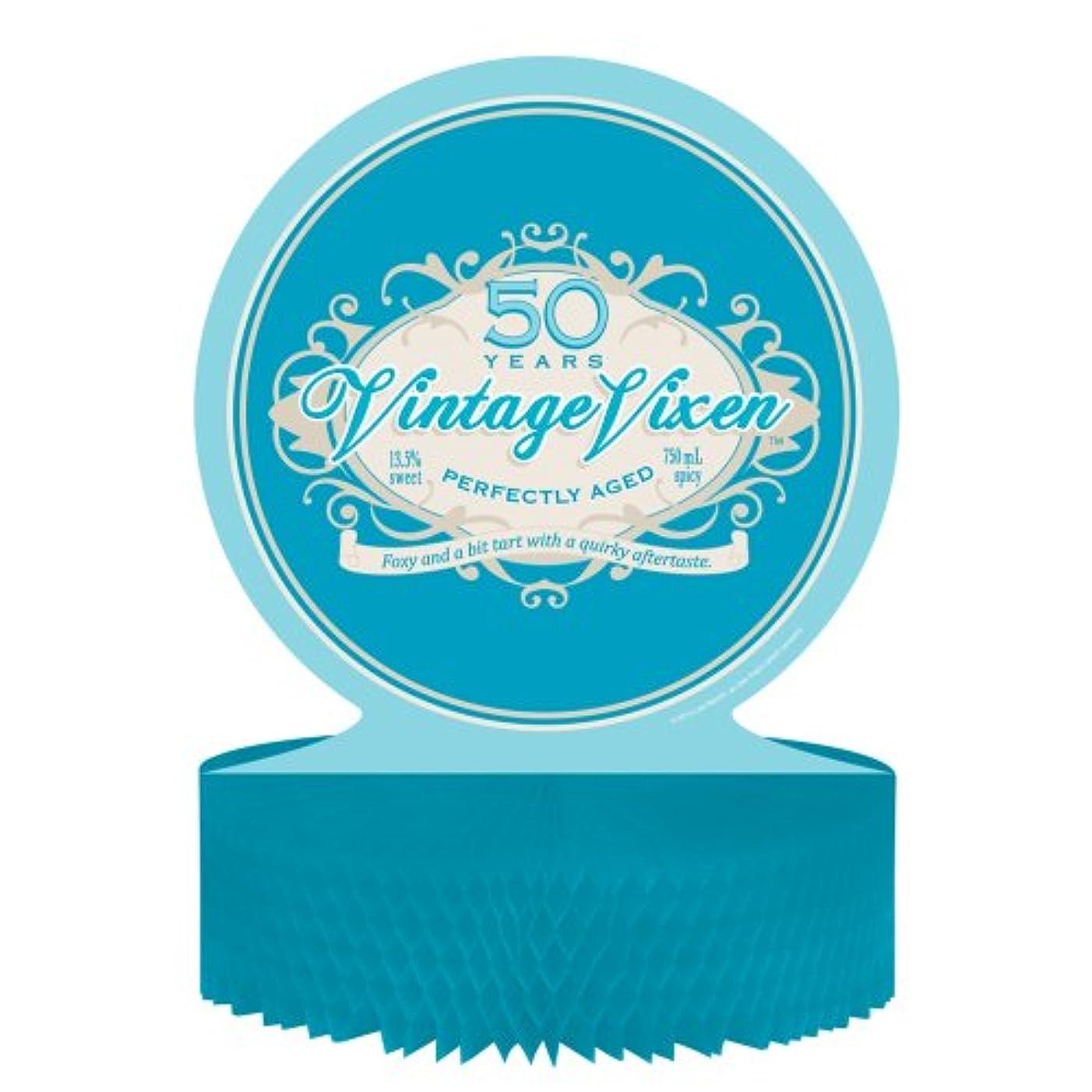 Creative Converting Vintage Vixen 50th Birthday Centerpiece with Honeycomb Base