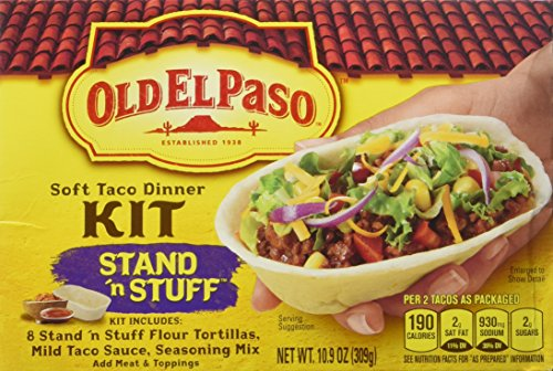 Old El Paso, Stuff 'N Stand Soft Taco Dinner Kit, 10.9oz Box (Pack of 3)