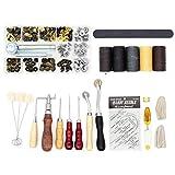 martillo de piel de vaca para coser con mango de madera DingGreat Martillo de nailon para manualidades de piel perfecto para bricolaje herramientas de piel estampado. perforaci/ón