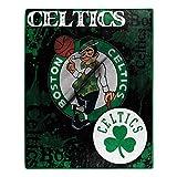 NORTHWEST NBA Boston Celtics Raschel Throw Blanket, 50' x 60', Dropdown
