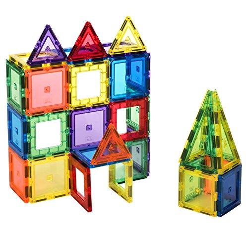 CitiTiles 60 piezas Super Set: con los imanes más fuertes garantizados, robustos, súper duraderos con vivos colores y accesorios para mejorar la creatividad de tus hijos
