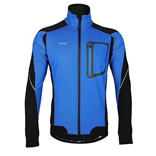 Lixada MTB Mountainbike Jacket Winter Trikot Radfahren Fahrradkleidung Winddicht Jersey, Blau, XXL