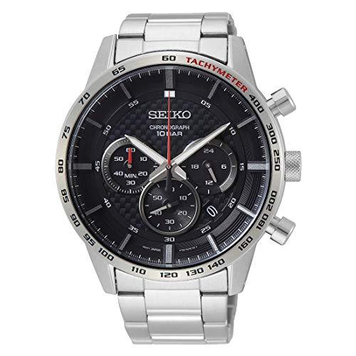 Seiko Reloj Analógico para Hombres de Cuarzo con Correa en Acero Inoxidable SSB355P1