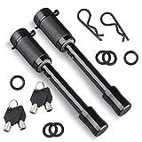 Kohree Hitch Receiver Pin Lock Set, 5/8inch Keyed Alike Trailer Locking Pin Tow Hitch Lock Set for Class III IV V Tow RV Trailer Hitch, Anti-Theft & Anti Rattle