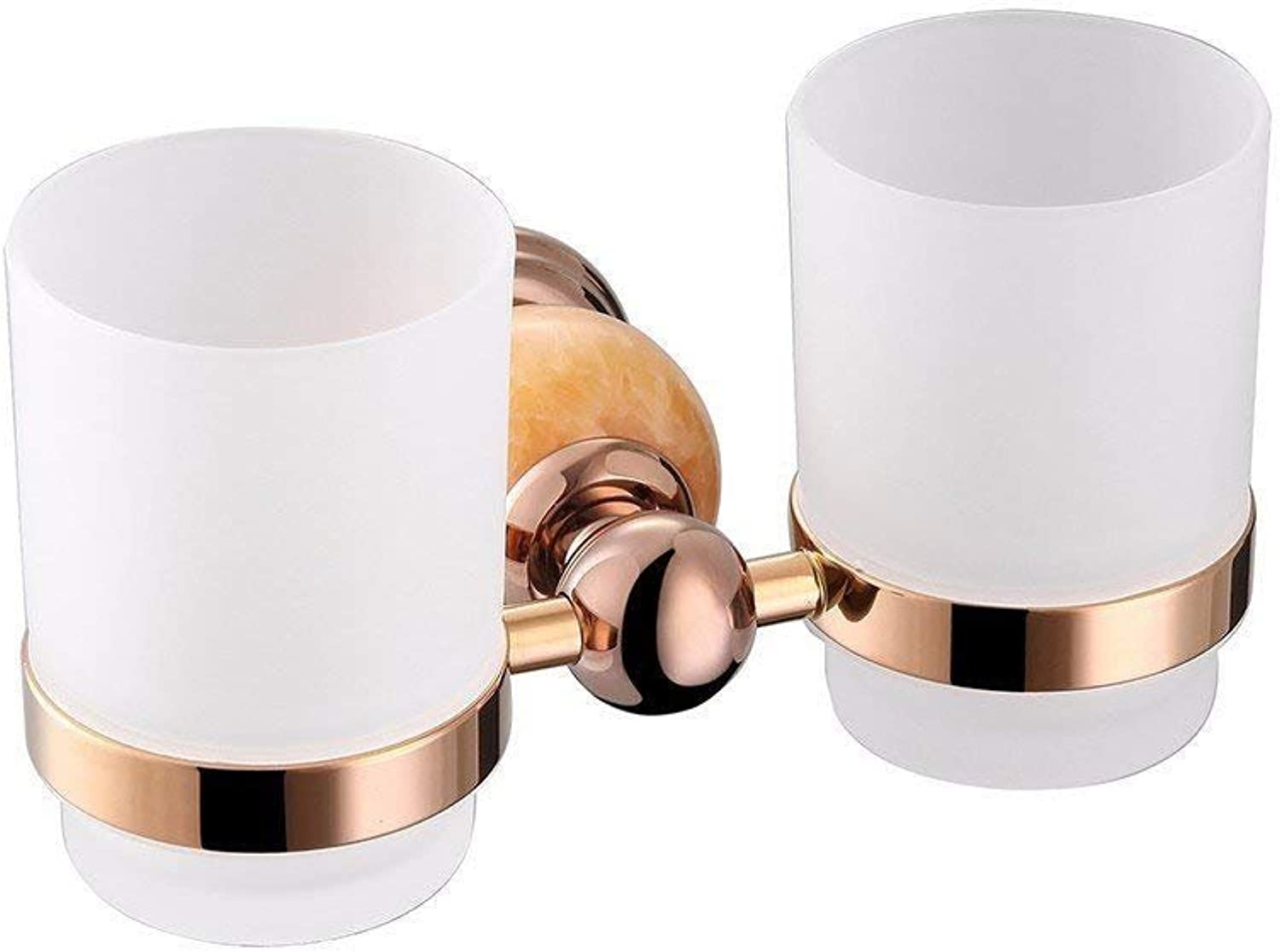 Jade Copper gold + Dry-Towels Toilet Pink Door-Fabric Brush Holder and Then Double Pole Double Simple kit of Accessories Cut of Bathroom, Double Cup