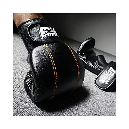 W.Z.H.H.H Handschuhe Boxhandschuhe Erwachsene Sanda Handschuhe Half Finger Boxing Gelbe Linie Dew Thumbs Punch Bag Handschuhe (Color : Rot, Size : L)