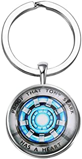 Iron Man Keychain Gift for Iron Man Fan Proof That Tony Stark Has A Heart Jewelry Tony Stark Keychain The Avengers Gift