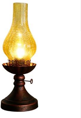 queroseno lámpara de mesa antigua, luz de noche Decoración ...