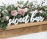 SWEETS BAR Candybar Holz XL Schriftzug Süßigkeiten Tisch Candy Bar Sweetsbar Tischdeko Hochzeitsdeko MR&MRS Buchstaben
