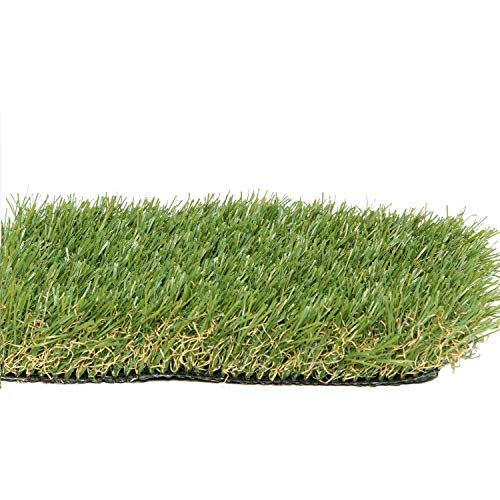 PZG Premium Artificial Grass Patch w/ Drainage Holes & Rubber Backing | 4-Tone Realistic Synthetic Grass Mat | 1.6-inch Blade Height |Extra-Heavy & Soft Pet Turf | Lead-Free Fake Grass for Dogs or Outdoor Decor | Size: 23