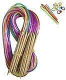 Tmade 18 Paires 120cm Aiguilles à Tricoter Circulaires en Carbonisé bambou à...