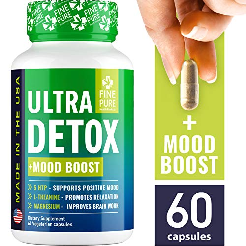 Detox Herbal Supplement - Made in USA - Potent Liver & Urinary Tract Cleanse Supplement for Toxin Removal, Better Mood and Overall Health - Premium Natural & Organic Ingredients - 60 Capsules