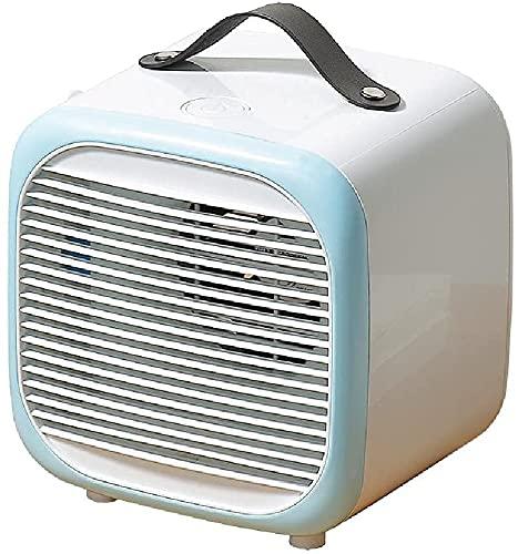 Acondicionador de aire Aire frío Ventilador, ventilador de mesa Refrigerador de aire Ventilador de ventilador refrigerante refrigerador de aire de refrigeración para la oficina de la habitación,Blue