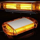 126 Gyrophare Orange LED stroboscopique clignotantes d'avertissement de danger d'urgence Clignotant de voiture Construction de camion à LED sur le toit lampe stroboscopique avec base magnétique