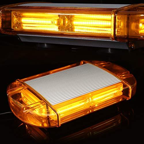 126 Luz LED estroboscópica intermitentes para emergencia peligro advertencia vehículos de construcción luz minibar luz de advertencia luminosa con base magnética
