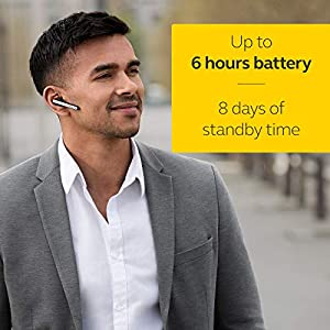 Jabra Talk 45 Bluetooth Headset for High Definition Hands-Free Calls with Dual Mic Noise Cancellation, 1-Touch Voice Activation and Streaming Multimedia