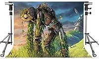 HD漫画の世界の背景人形ロボット写真の背景7X5ftをテーマにしたパーティーの写真ブースYouTubeの背景LFMT362