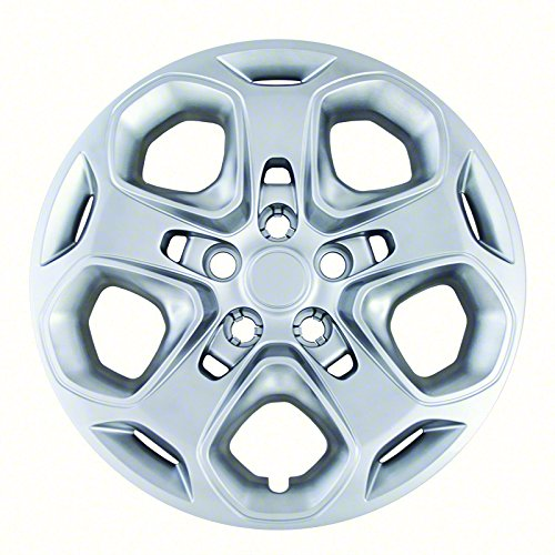 Hubcaps for Ford Fusion 2010-2012 Set of 4 Pack 17 Inch Silver Auto Wheel Covers, OEM Genuine Factory Aftermarket Replacement, ABS - Easy Snap On