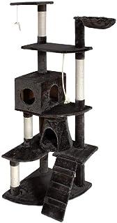 i.Pet 193cm Cat Scratching Post Cat Tree Tower Scratcher Home Pet Furniture Grey