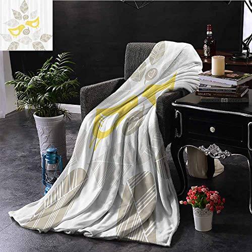 GGACEN Travel deken Fantasy Bike met Exotische Swirling Floral Detail op de stoel en banden Hippie Life Im Lichtgewicht Microvezel, Alle seizoenen voor bank of bed