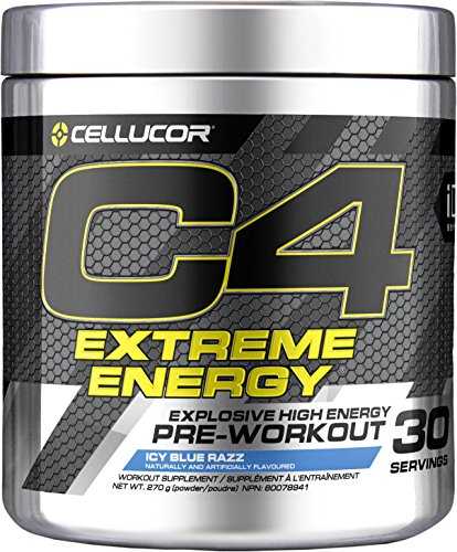 CELLUCOR C4 Extreme Energy ICY Blue Razz 30 Serving Supplements