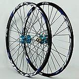 For ruedas de la bici MTB 26 / 27,5 / 29 pulgadas de aleación de aluminio del freno de disco del borde 32H rápida liberación de caja de rueda libre NOVATEC Azul Hub + Blue Lable (rueda de la rueda del