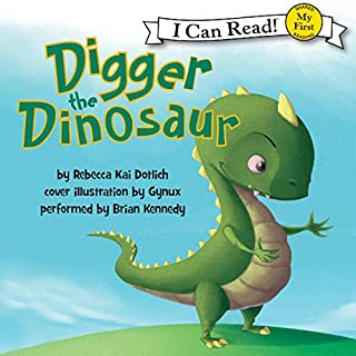 Digger the Dinosaur audiobook cover art