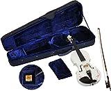 Steinbach 1/4 Geige im SET, weiß mit Blumendekor, handgearbeitet
