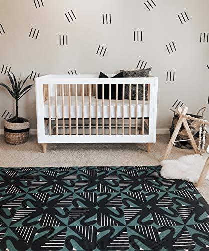 LITTLE Bot Ofie Mat, Weiche Babyspielmatte, beidseitig und ungiftig (swan + Zen line, Large)