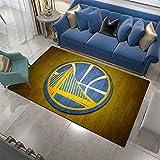 Warriors Carpets for Living Room Decor Basketball Area Rugs Bedroom Polyester Non-Slip Home Floor Mat for Teen Boys Gifts Warriors-5080