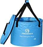 Freegrace Premium Collapsible Bucket - Multifunctional Folding Bucket - Perfect Gear for...
