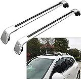 2 piezas Barra de techo Aluminio para X3 2011-2019 E83 G01   Barras transversales para portaequipajes de techo   Soporte para techo de bicicleta para Exterior Deportes y Viaje