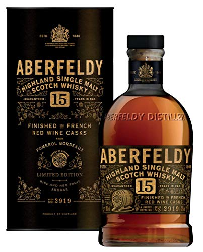 Aberfeldy 15 Jahre Pomerol Rotweinfass Finish Limited Edition Exceptional Cask Serie  Single Malt Whisky (1 x 0.7 l)