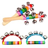 SMUER 4Pcs Rasseln Handglocken Baby Spielzeug Kinder Musikinstrumente Spielzeug Kinder