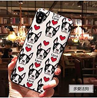 iPhone Xs Max Xs X Cases Cute Cartoon Multiple Colors and Cartoons (French Bulldogs, X/Xs 5.8 in)