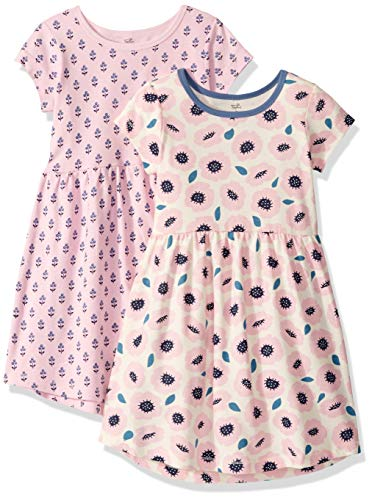 Touched by Nature Girls' Organic Cotton Short-Sleeve Dresses, Blossoms Youth, 12 Years