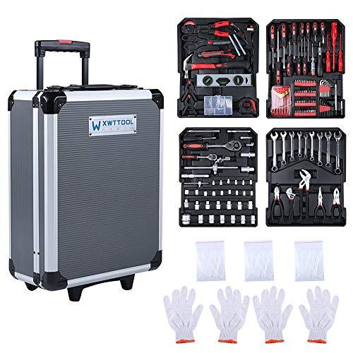 chengshiandebaihu 999 Uds Caja Multifuncional de aleación de Aluminio para el hogar, reparación de automóviles, Cuidado del Coche, Conjunto de Herramientas de Mantenimiento, Equipo de Taller