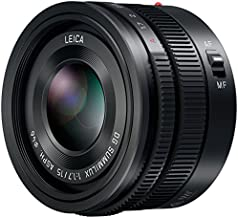 Panasonic LUMIX G Leica DG SUMMILUX Lens, 15MM, F1.7 ASPH, Professional MIRRORLESS Micro Four Thirds, H-X015 (USA Black)