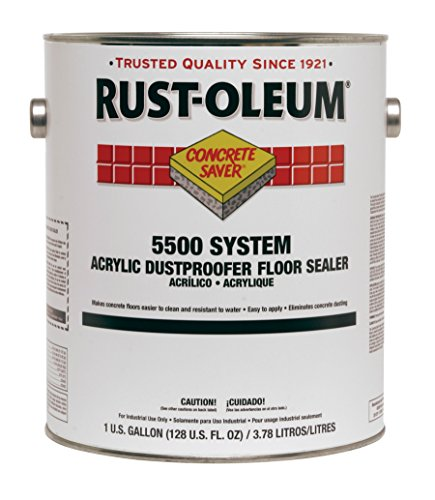 Rust-Oleum 251282 Concrete Saver 5500 System Acrylic Dust Proofer Floor Sealer, 1-Gallon, Clear, 2-Pack