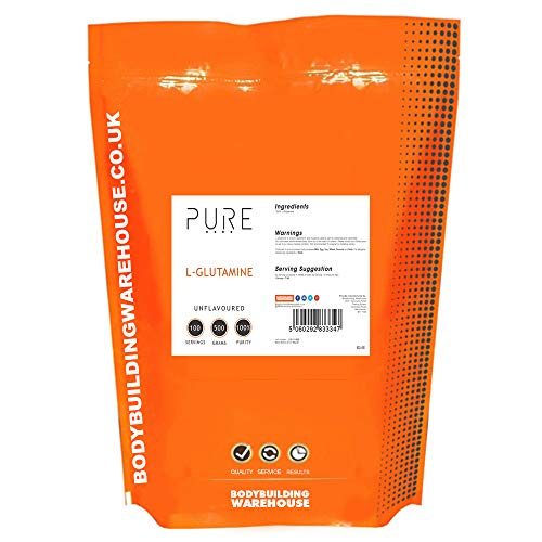 Bodybuilding Warehouse Pure L Glutamine Powder 500g Supports Muscle Growth