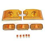EVTSCAN Cubierta de luz de Techo de Coche Lente Amarilla con Bombilla LED 15060523 Repuesto para H2 SUT 2005-2009