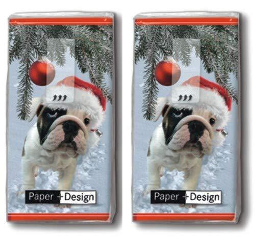 20 zakdoeken (2 x 10) zakdoeken Kerstshond/hond/winter/Kerstmis