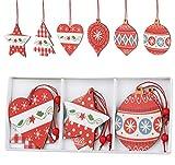 Agoer 3 rejillas rojas y blancas, decoración de madera