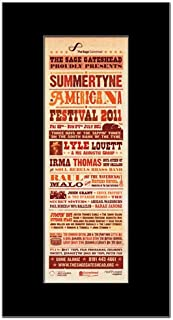 Music Ad World SUMMERTYNE Americana Festival - 2011 - Lyle Lovett Raul Malo Mini Poster - 28.5x10cm