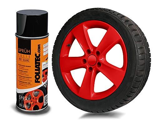 Foliatec FT 2058 Aérosols Spray Film, Rouge Brillant, 400 ML